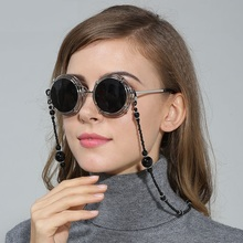Módní dámské brýle řetízky černé / bílé akrylové korálky řetězy protiskluzové brýle brýle držák na krk čtecí brýle lano