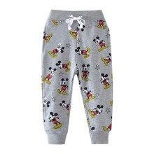 От 2 до 7 лет детские мальчики девочки мультфильм пот брюки новая модель полная длина брюки для весна осень младенец дети Drawstring Sweat pants