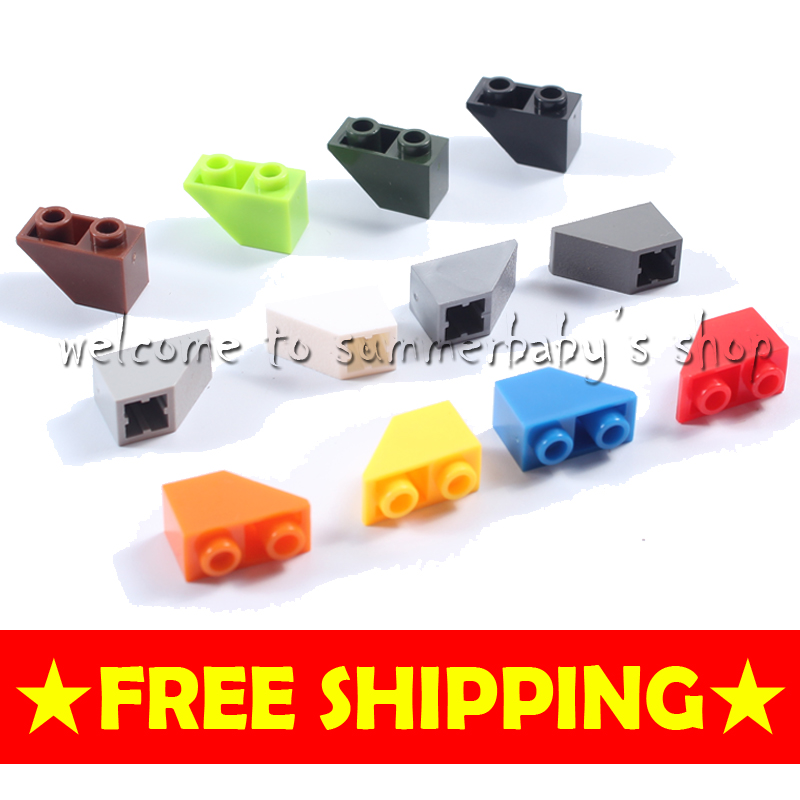 Toy slope brick 45 2*1 inverted 140P DIY kid diamond Building blocks enlighten playmobil ABS Compatible