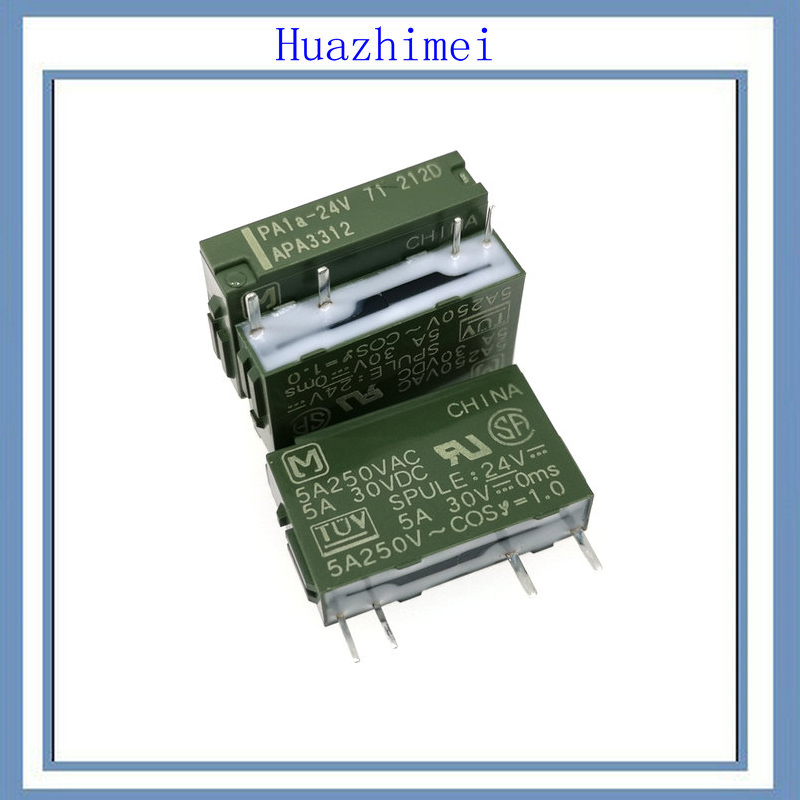 50PCS/LOT NEW Relay PA1A PA1A 24V PA1A 12V PA1A 5V 5V 12V 24V-in Relays from Home Improvement    1