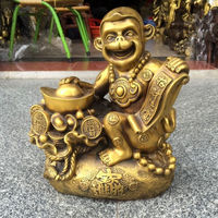 Christmas Chinese Very beautiful Brass monkey fortune crafts decorations Statue new Year
