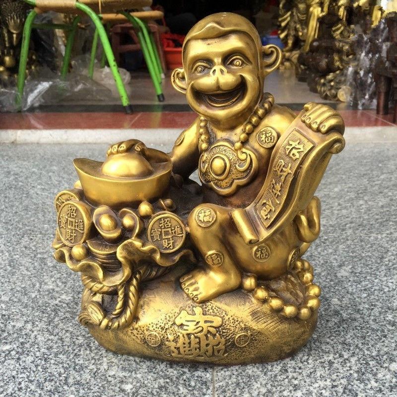 Рождество, китайский очень красивые латунная обезьяна fortune ремесленные украшения Статуя новый год