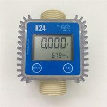 K24 Elektronische Turbine Flow Meter Sensor Voor Diesel, Ureum, Kerosine, Benzine, Water, Lichte Olie