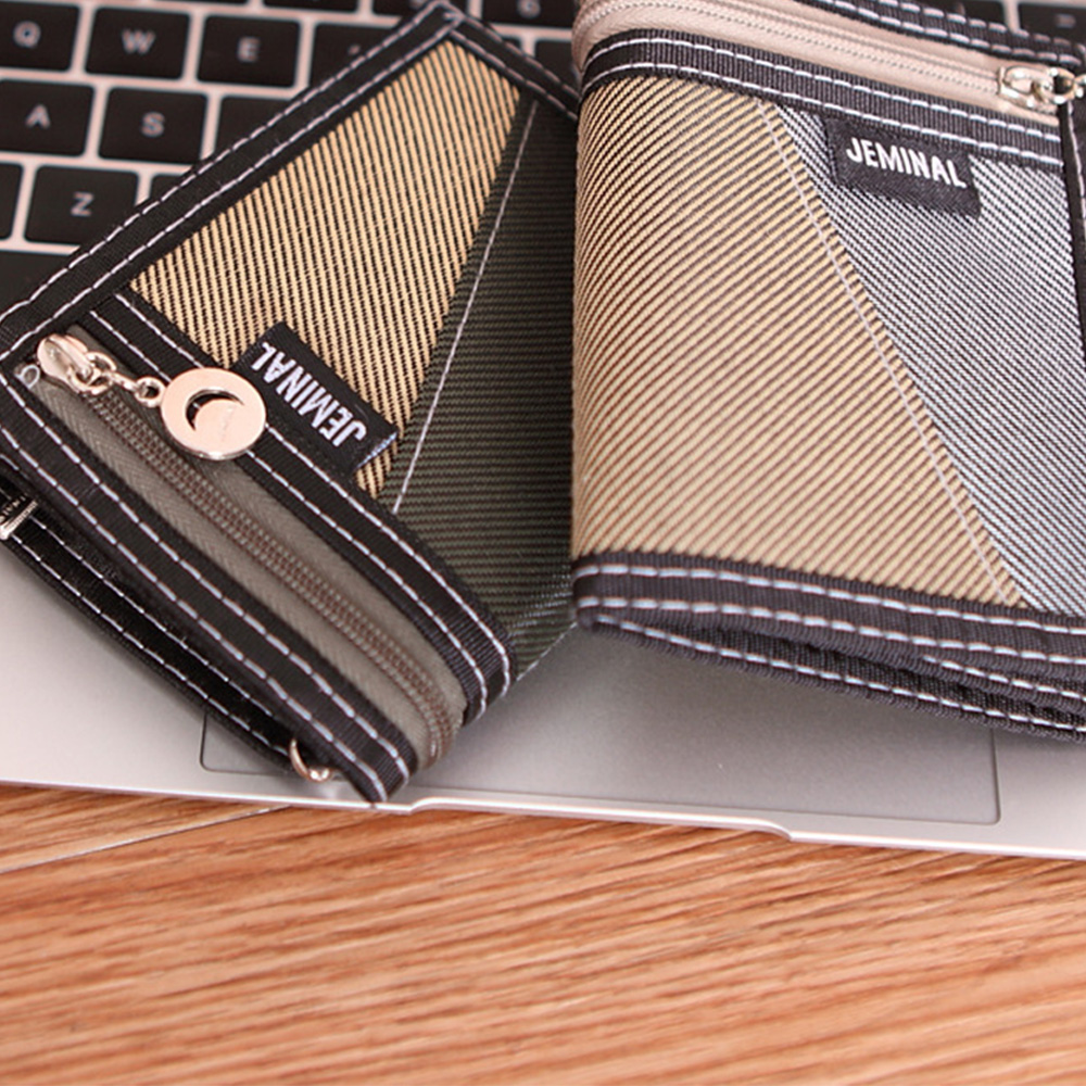 Купить с кэшбэком 5 Color Casual Men's Wallets Folded Male Purse Short Zipper Gentleman Wallet Fashion Small Compact and Lightweight Wallets