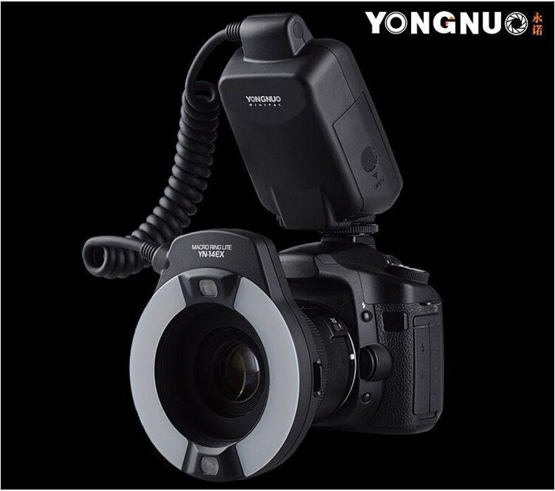 Prix pour Yongnuo YN-14EX TTL Macro Ring Lite Flash Speedlite Lumière pour Canon 5D Mark II 5D Mark III 6D 7D 60D 70D 700D 650D 600D