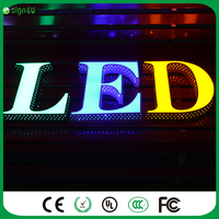 Beautiful Side Perforated Lighted Brush Finish Metal Alphabet Letter Led Channel Letter Led Lighting Signs For