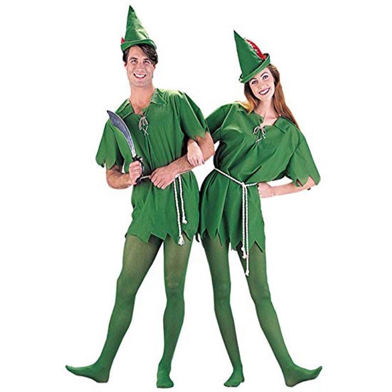 Adult Peter Pan Costume Adult Men's and Women's Halloween Cosplay Costumes
