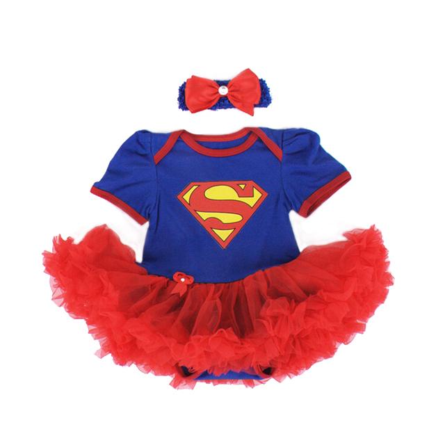 0-12 M para o corpo do bebê com headband do tutu vestido corpo bodysuits bebê menina bodysuits infantil curto da luva da criança bonito vestido de princesa