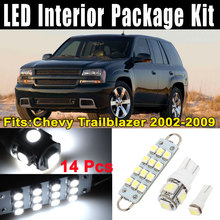 Uxcell 14pcs White Led Map Dome Light Bulb Lamp Interior Package Kit For Chevy