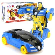 Exquisite Puzzle Cartoon Mini Transforming Car Child Toy Boy Deformation Toy Car Toy Robot New Sports Car Deformation Toy hasbro transformers genuine mb 14 megatron boy toy deformation robot