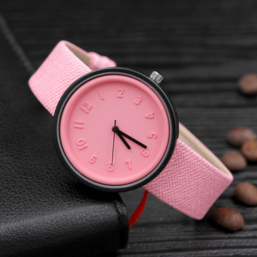 цена на Candy color Unisex Simple Number watches women japanese fashion luxury watch Quartz Canvas Belt Wrist Watch girls gift New 50p