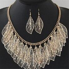 cfb96b0a2310 De Lujo babero declaración bohemio deja larga borla de plata al por mayor  collar de oro pendientes conjuntos de joyas de las muj.