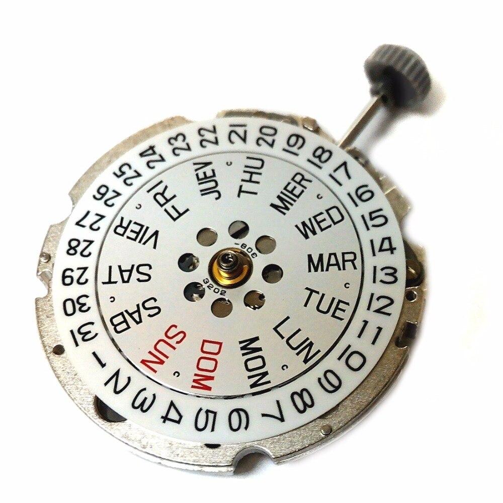 Оригинальный Miyota 8205 автоматический и ручной намотки движение Дата испанский широкий день