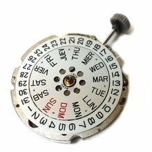 Original miyota 8205 automático & manual enrolamento movimento data dia largo espanhol