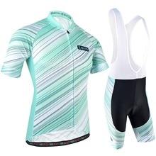 BXIO Men Cycling Clothing Summer Pro Team Bike Jerseys Short Sleeve Sportswear With Bib Shorts Blue Jersey Sets 175
