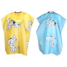 1 unids Cartoon Dog Kid Peluquería Estilo Cape Wrap Clothes Salón Peluquería Peluquería Impermeable Corte de Pelo de Tela