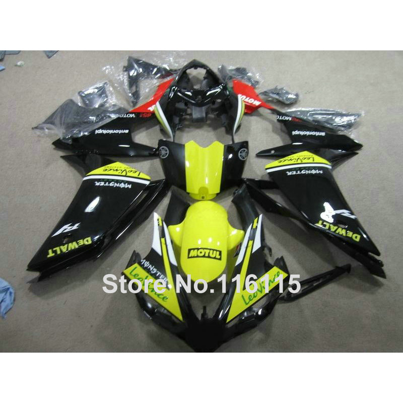 Injection molding ABS bodywork set for YAMAHA YZF R1 2007 2008 fairing kit YZF-R1 07 08 yellow black blue full fairings QZ65 велосипед royal baby pony 2 в 1 зеленый двухколёсный rb12b 4