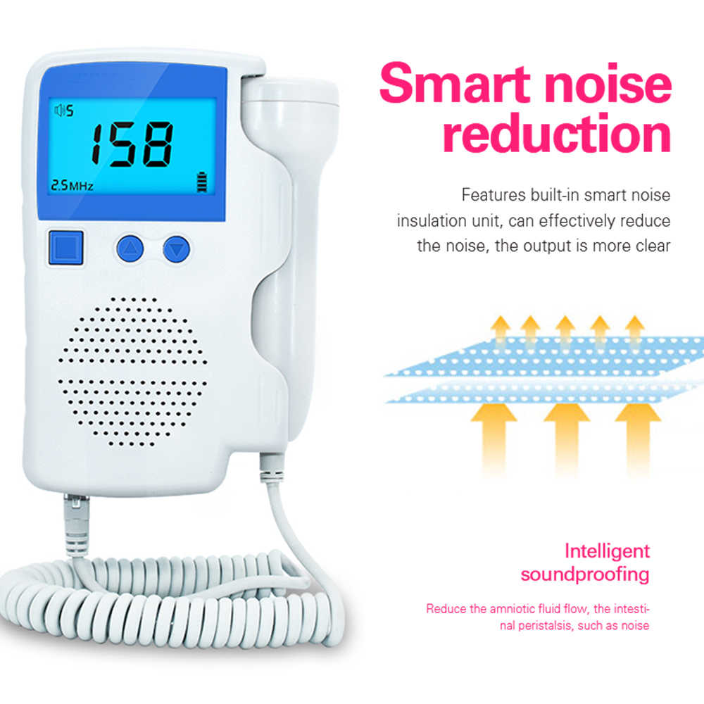 Olieco 3.0 MHz Fetal Doppler Tidak Ada Radiasi Ultrasound Hamil Home Bayi Monitor Jantung Saku Detak Jantung Bayi Low Noise