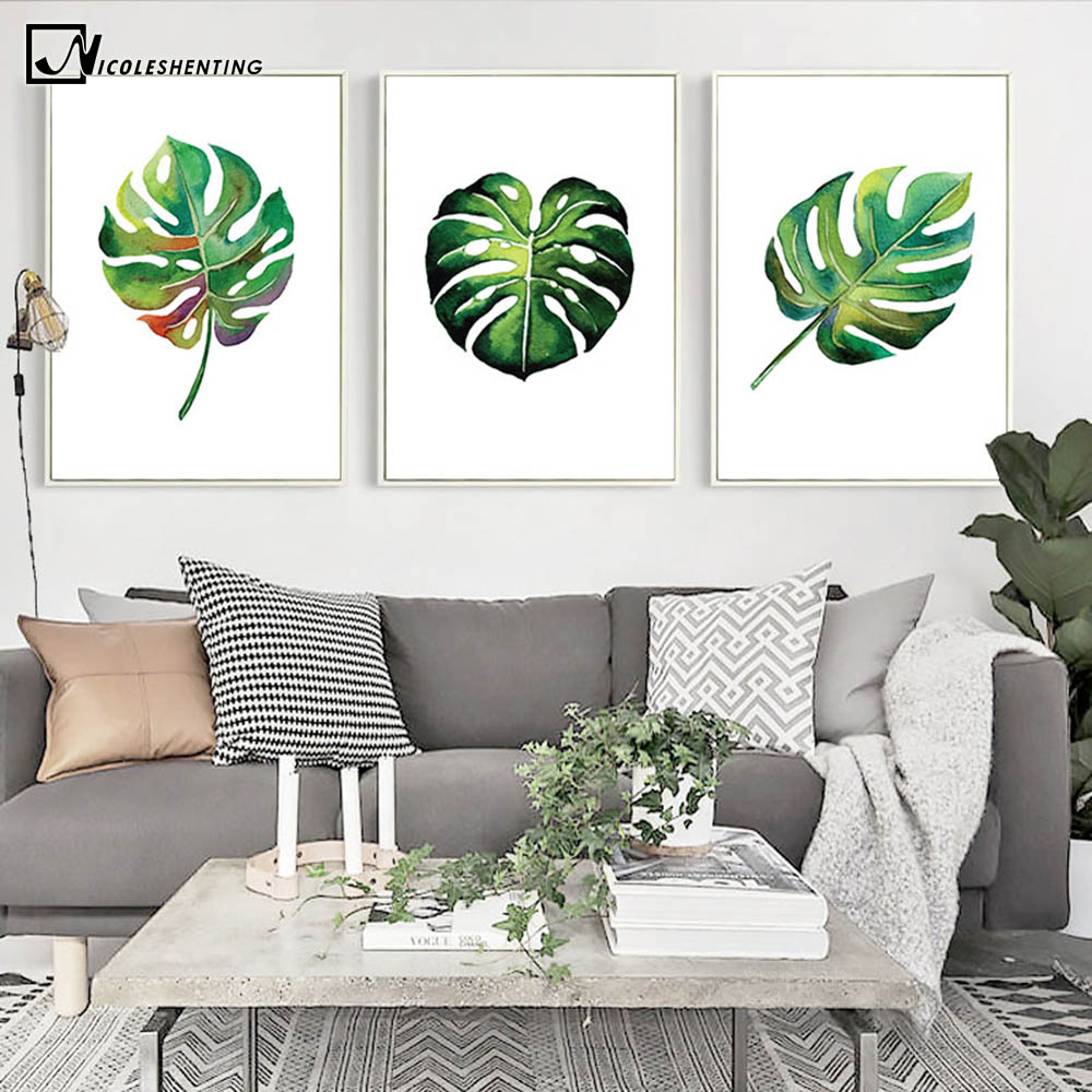 Aliexpress Buy Nordic Art Tropical Plant Leaves