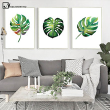 Nordic Art Tropical Plant Leaves Minimalism Canvas Poster Painting Simple Wall Picture Print Modern Home Living Room Decoration