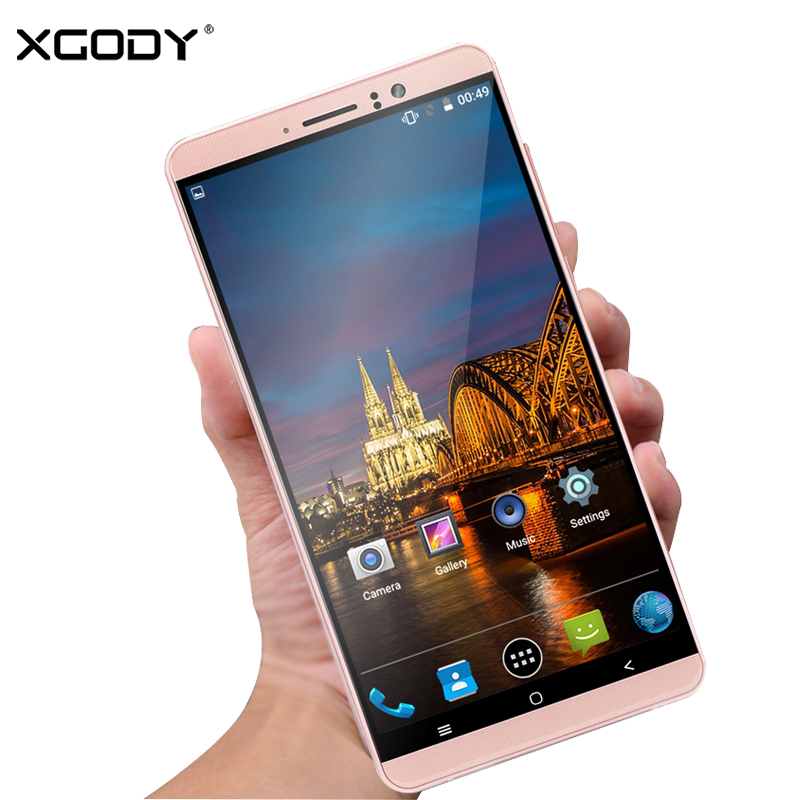 XGODY 3G Dual Sim Smartphone 6 Inch Android 5.1 1GB RAM 8GB ROM MTK6580 Quad Core Mobile Phone 5MP Camera WiFi Telefone Celular-in Cellphones from Cellphones & Telecommunications    1