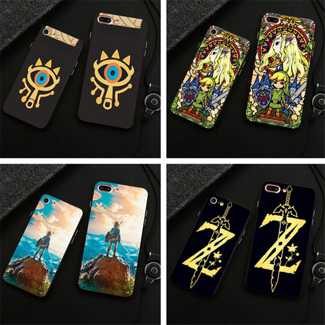 best sneakers 5f9f0 7bc01 US $1.73 36% OFF|The Legend of Zelda Breath of the Wild Sheikah Slate soft  Silicone Phone Case For iPhone 5 5S 6 6S Plus SE 7 7Plus Black Cover-in ...