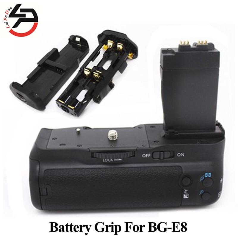 BG-E8 Appareil Photo Numérique Batterie Grip Pour Canon Pour EOS BG E8 550D 600D 650D 700D T5i T4i T3i T2i Comme MK-550D POIGNÉE de