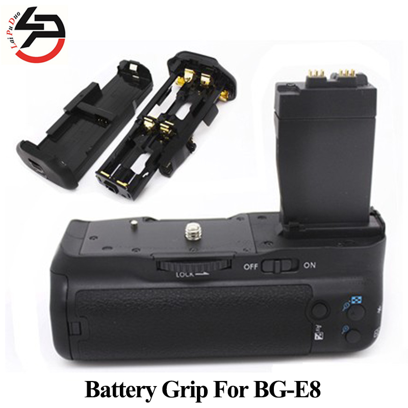 BG-E8 Batterie D'appareil Photo Numérique Grip Pour Canon Pour EOS BG E8 550D 600D 650D 700D T5i T4i T3i T2i Comme MK-550D