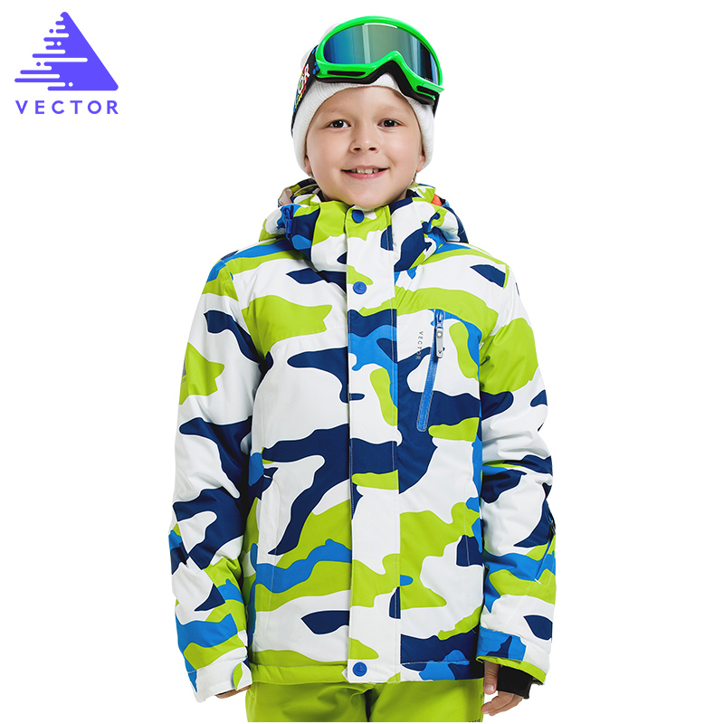 VECTOR Brand  Children Ski Jackets Warm Winter Boys Girls Jackets Waterproof Outdoor Sport Snow Skiing Snowboarding Clothing 2016 winter boys ski suit set children s snowsuit for baby girl snow overalls ntural fur down jackets trousers clothing sets