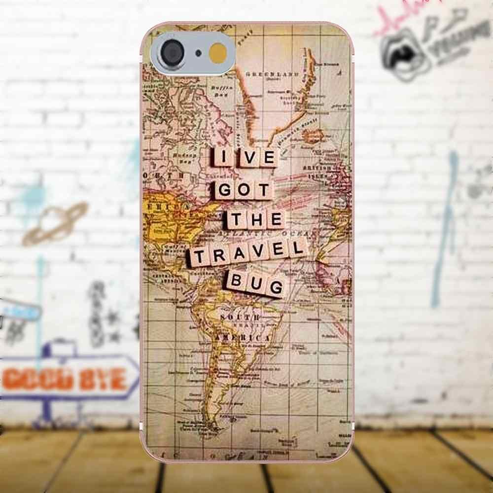 Bixedx карта мира путешествия планы для Samsung Galaxy A3 A5 A7 J1 J3 J5 J7 2016 2017 S5 S6 S7 S8 S9 edge Plus Мягкий, роскошный, из ТПУ