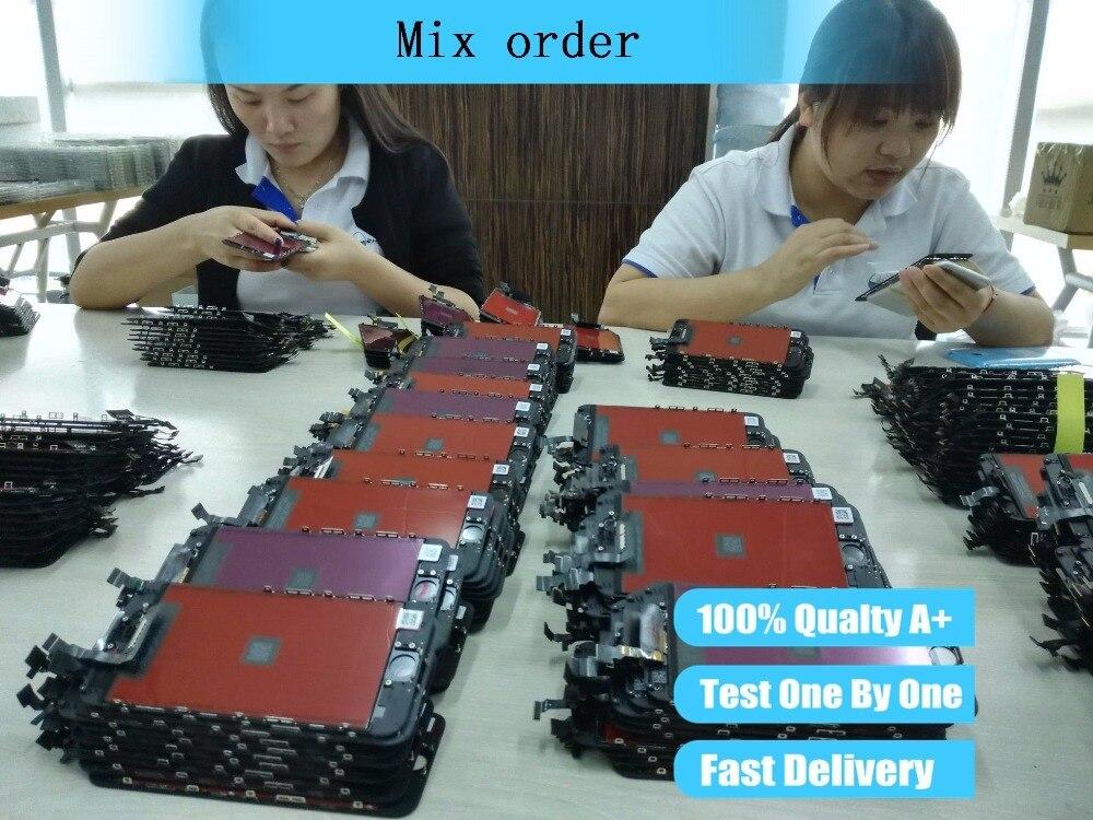 Ordre de mélange de numériseur d'écran tactile d'affichage de remplacement d'écran d'assemblage d'affichage à cristaux liquides pour l'iphone lcd