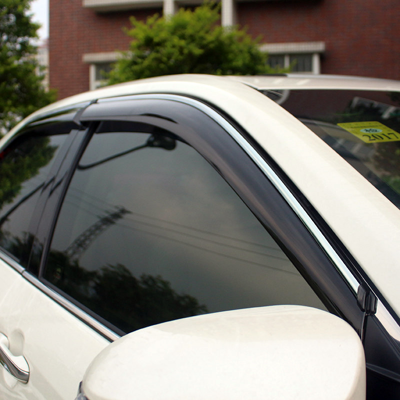 For TOYOTA CAMRY 2012 2013 2014 2015 2016 Car Windows Visor Vent Sun Rain Guard Shield Cover Deflector Car Styling 4pcs for toyota corolla 2014 2015 sun rain shield covers car awnings