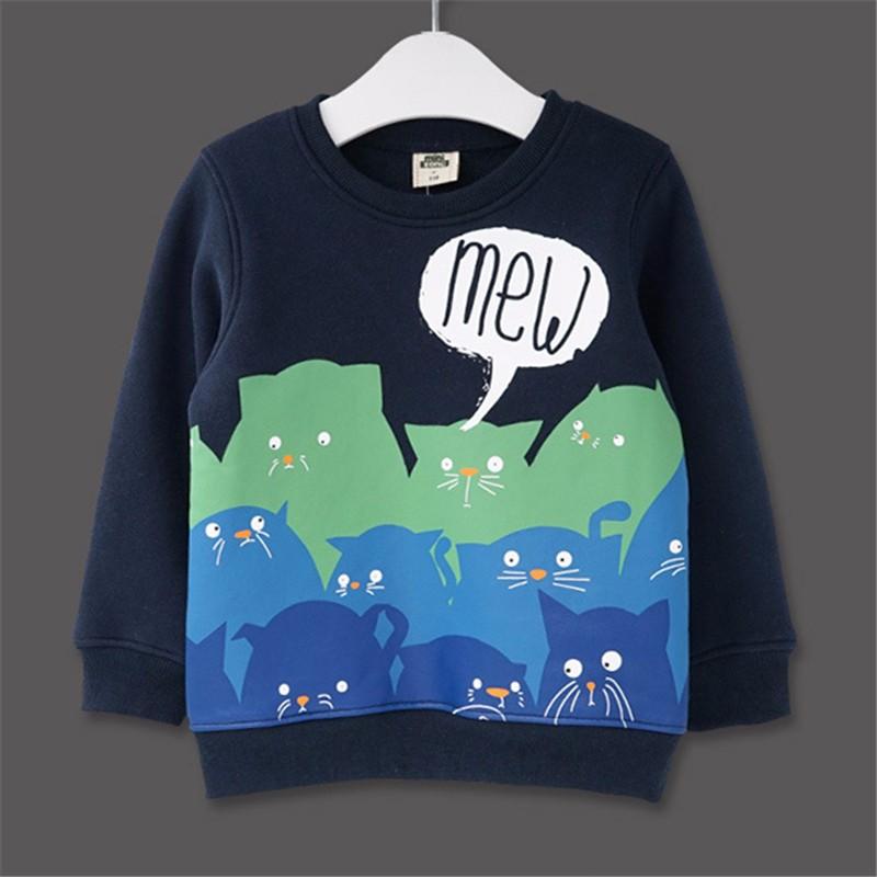 For Kids Sweatershirt Clothes T-Shirt Sweater Autumn Spring New Graffiti Cartoon Cat Letter Printing Next Boys Girls Bobo Choses16