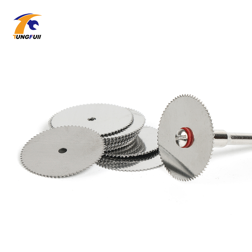 Image 2 - Drop Shipping Tool Set 20pcs/lot 22mm Circular HSS Saw Blades Wood Cutter Dremel Accessory For Rotary Tools Woodworking-in Abrasive Tools from Tools