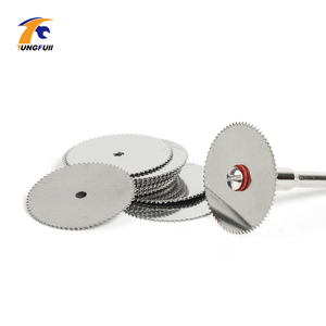 Image 2 - Drop Shipping Tool Set 20pcs/lot 22mm Circular HSS Saw Blades Wood Cutter Dremel Accessory For Rotary Tools Woodworking