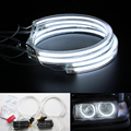 Anel de Halo CCFL Angel Eyes Kit Branco Quente 131mm Para BMW E36 E38 E39 E46 (Com Original Projector)