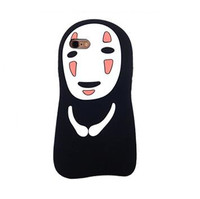For IPhone 7 Case 3D Cartoon Chihiro Spirited Away Slender Man Ghost Silicon Cases Cover For