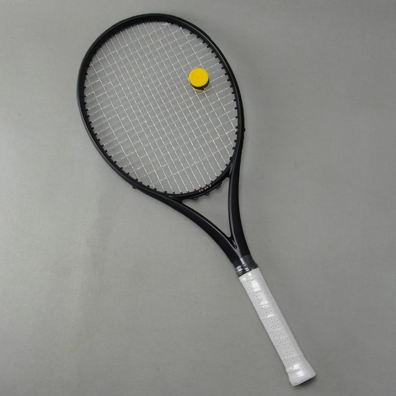 Black APD Nadal Tennis Racket 300g 16x19 100 Carbon black Tennis Racquets With String Bag Grip