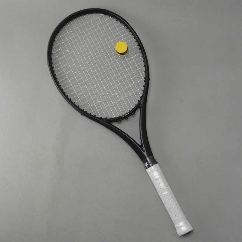 Black APD Nadal Tennis Racket 300g 16x19 100% Carbon black Tennis Racquets With String Bag Grip Size L2 L3 L4