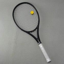 Zwart APD Nadal Tennisracket 300g 16x19 100% Carbon black Tennisrackets Met String Bag Grip Grootte l2 L3 L4