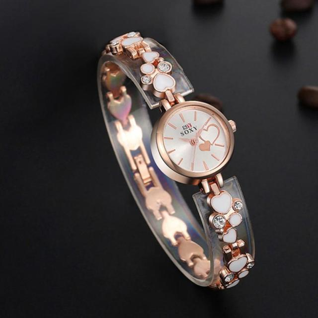 Women Bracelet Wrist Watch Rose Gold Female Girl Gift Alloy Quartz Watch reloj Mujer Pulsera ladies Watch