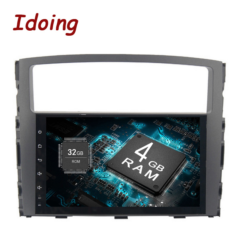 Idoing android 8.0 car radio 4g+32g 8 core fast boot TPMS GPS+GLONASS Fast Boot Fit MITSUBISHI PAJERO V97 V93 2006 2012 NO Disc
