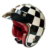 Brand New Ruby Pavilion Open Face Motorcycle Helmet France Paris Vintage Motor Bike Capacetes Casco