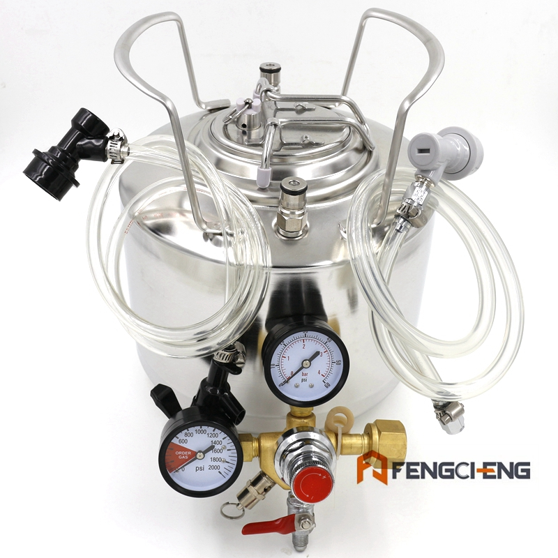 6 литров бочонок Syestem с шариковым фиксатором, розлив пива, Co2 регулятор, Kegging пива