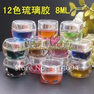 Nail art supplies and color import of gel glass glue jelly coloured glaze a UV gel color
