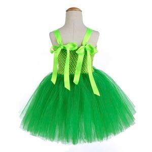 Image 4 - 녹색 산타 꽃 요정 공주 파티 드레스 어린 소녀 역할 놀이 투투 드레스 요정 마술 지팡이 날개 모자를 쓰고 있죠 1 12Y