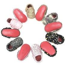 2017 New arrivals Graffiti Suede Originali Oda Baby Moccasins Minkštas raudonas dugnas Newborn Shoes First Walkers Toddler Baby Shoes