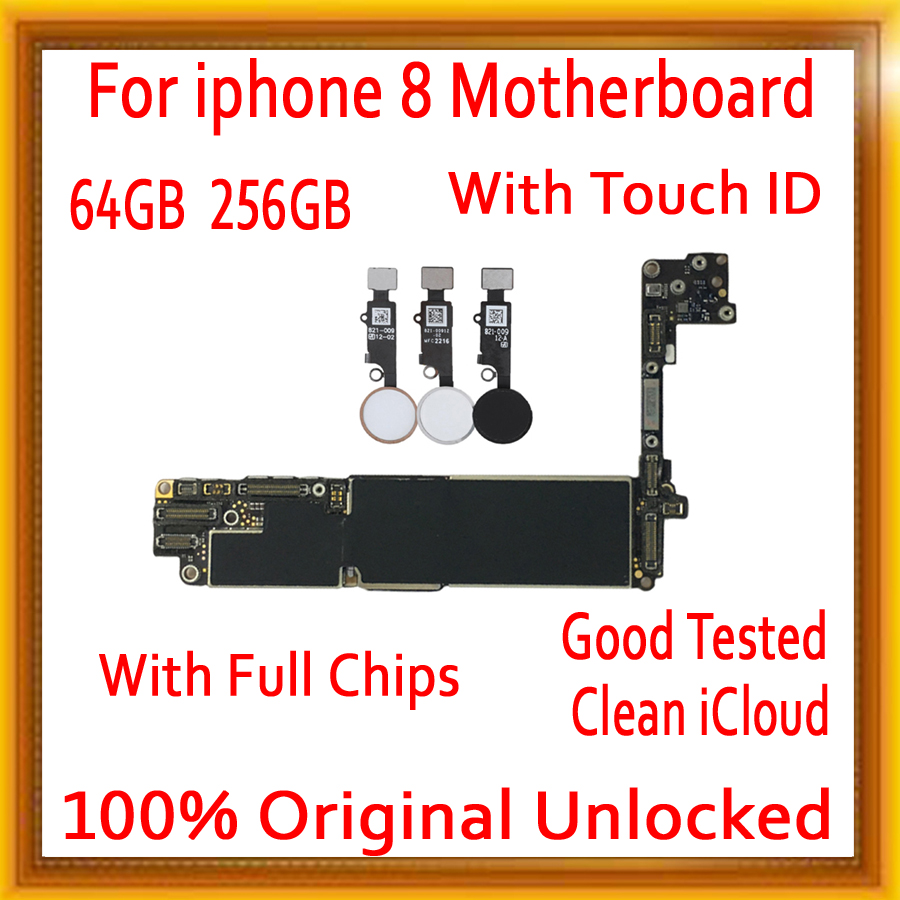 Galleria fotografica Full unlocked for iphone 8 4.7inch Motherboard With / Without Touch ID,100% Original for iphone 8 Mainboard with IOS System