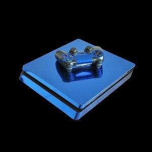 Image 4 - Autocollant de peau mince or argent bleu rouge PS4 pour Console PlayStation 4 et 2 contrôleurs PS4 autocollant de peaux minces vinyle