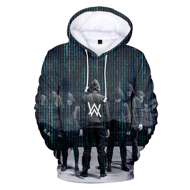 Z&Y 4-20Y Fashion DJ Master Alan Walker Warm Clothes Pullover 3d Hoodies Boys Sweatshirt Girls Hip Hop Jacket Kids Hooded Jumper